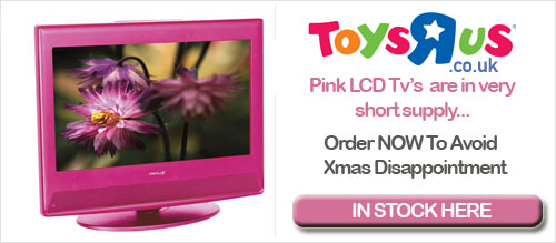 Pink LCD TV at Toys R Us