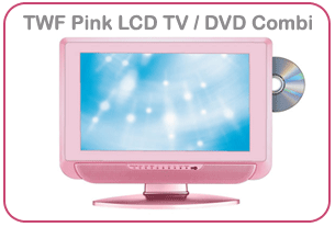 TWF 19 Inch Pink LCD TV DVD Combi